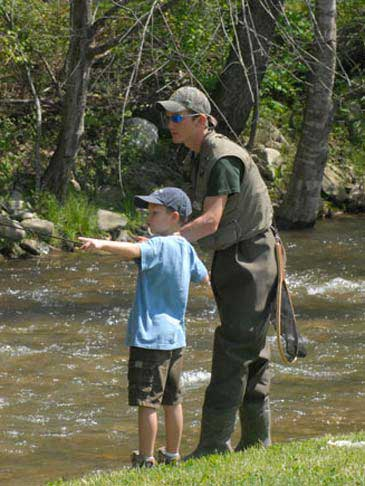 Trout Fishing in Maggie valley